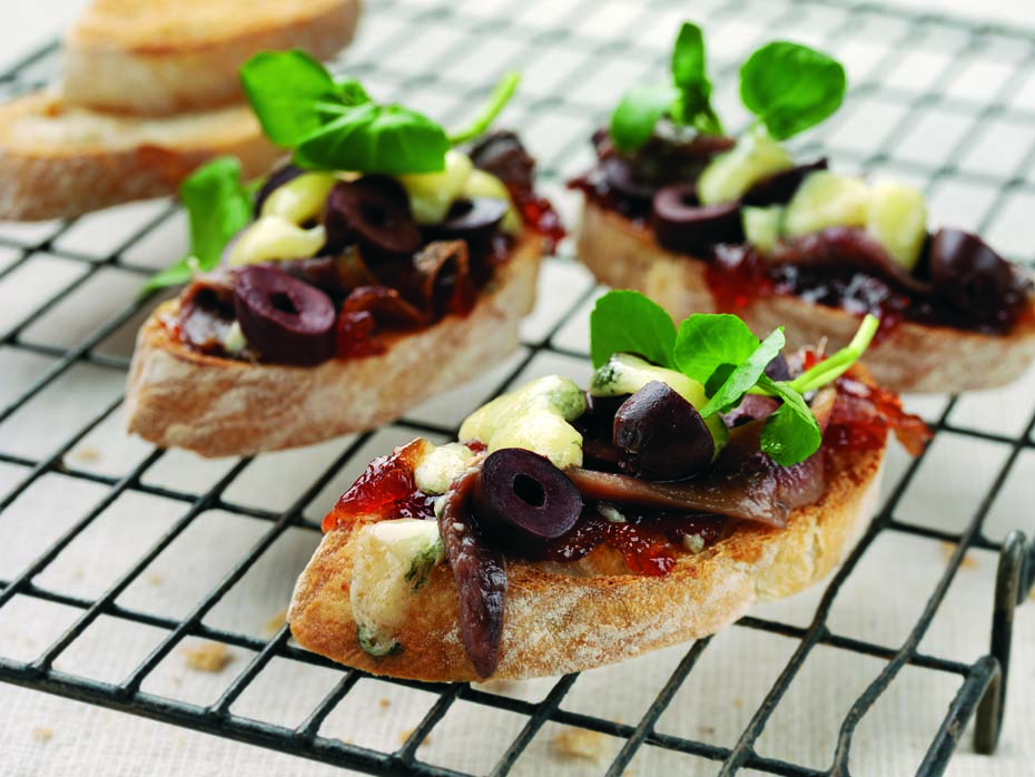 ORIGINAL ONION MARMALADE, OLIVE AND ANCHOVY BRUSCHETTA